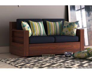 Marriott 2 Seater Wooden Sofa (Walnut Finish)