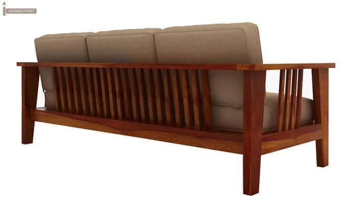 Mcleod 3 Seater Wooden Sofa (Honey Finish)-4