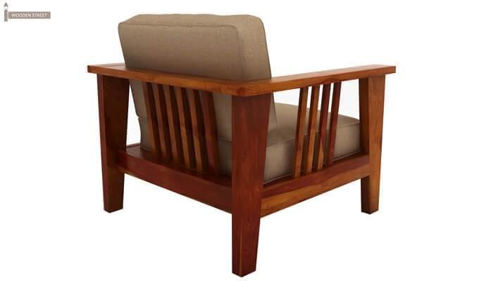 Mcleod 1 Seater Wooden Sofa (Honey Finish)-4
