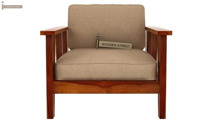 Mcleod 1 Seater Wooden Sofa (Honey Finish)-1
