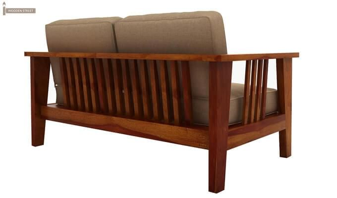 Mcleod 2 Seater Wooden Sofa (Honey Finish)-4