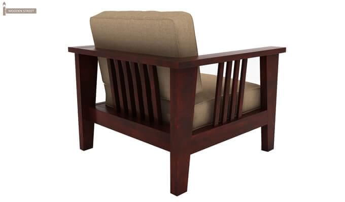 Mcleod 1 Seater Wooden Sofa (Mahogany Finish)-3