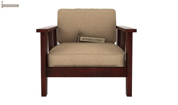 Mcleod 1 Seater Wooden Sofa (Mahogany Finish)-1