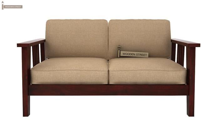 Mcleod 2 Seater Wooden Sofa (Mahogany Finish)-1