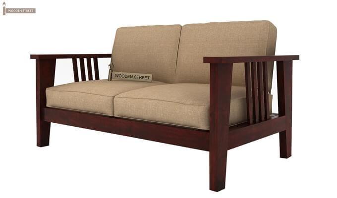 Mcleod 2 Seater Wooden Sofa (Mahogany Finish)-3