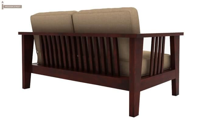 Mcleod 2 Seater Wooden Sofa (Mahogany Finish)-4