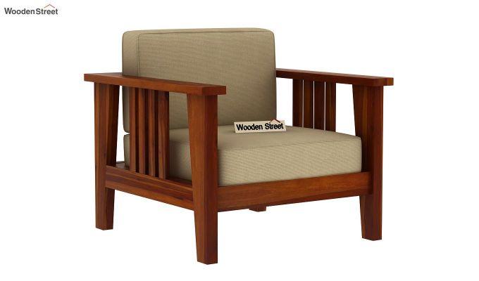 Mcleod Wooden Sofa 3+1+1 Set (Honey Finish)-4