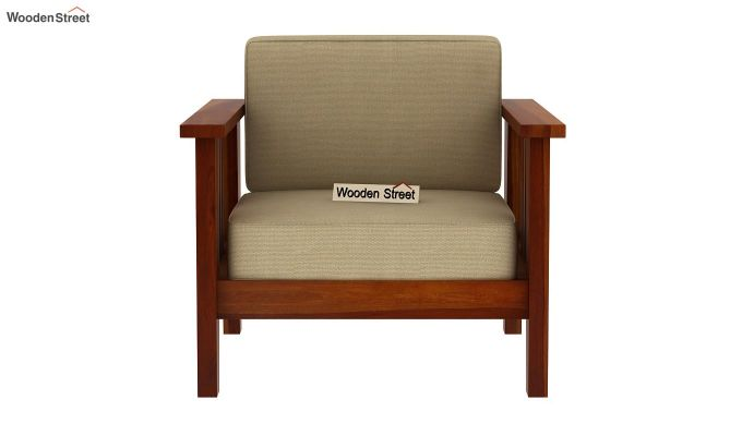 Mcleod 1 Seater Wooden Sofa (Honey Finish)-3
