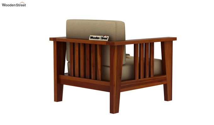 Mcleod 1 Seater Wooden Sofa (Honey Finish)-4