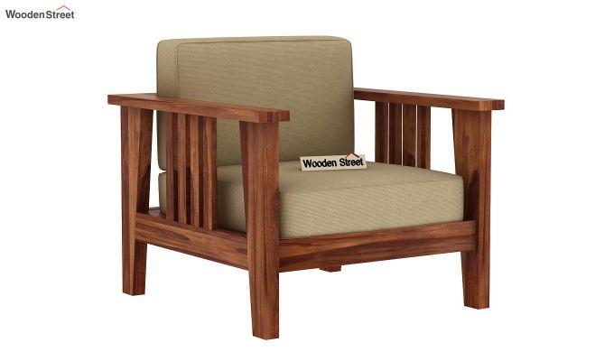 Mcleod 1 Seater Wooden Sofa (Teak Finish)-2