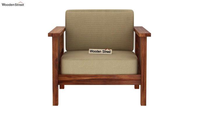 Mcleod 1 Seater Wooden Sofa (Teak Finish)-3