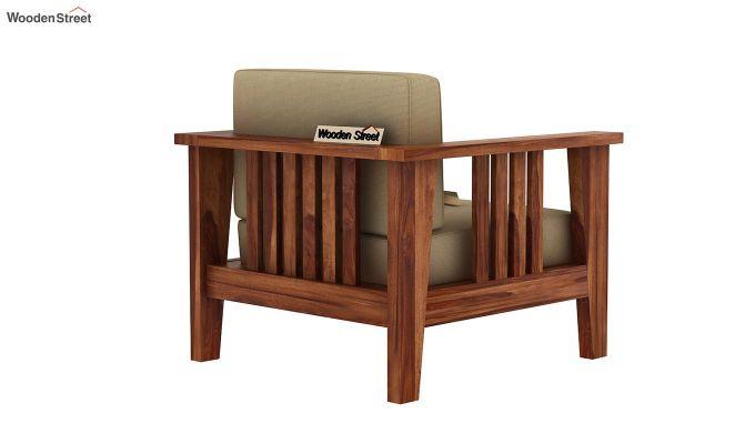 Mcleod 1 Seater Wooden Sofa (Teak Finish)-4