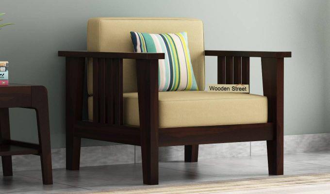 Mcleod Wooden Sofa 3+1+1 Set (Walnut Finish)-3