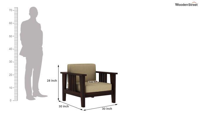 Mcleod Wooden Sofa 3+1+1 Set (Walnut Finish)-8