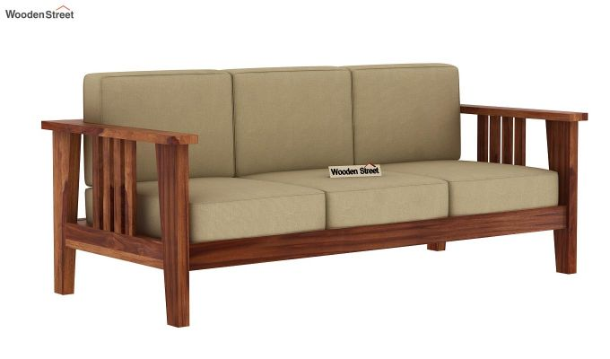 Mcleod 3 Seater Wooden Sofa (Teak Finish)-2