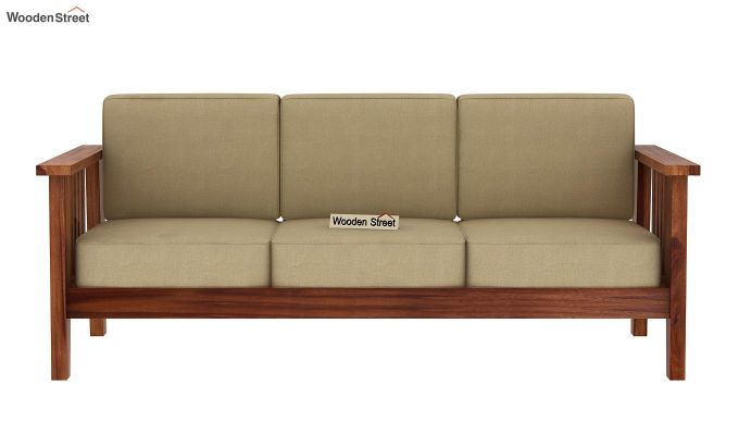 Mcleod 3 Seater Wooden Sofa (Teak Finish)-3