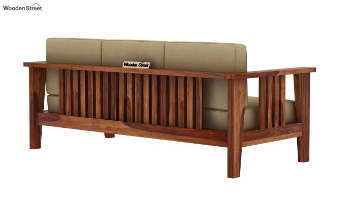 Mcleod 3 Seater Wooden Sofa (Teak Finish)-4