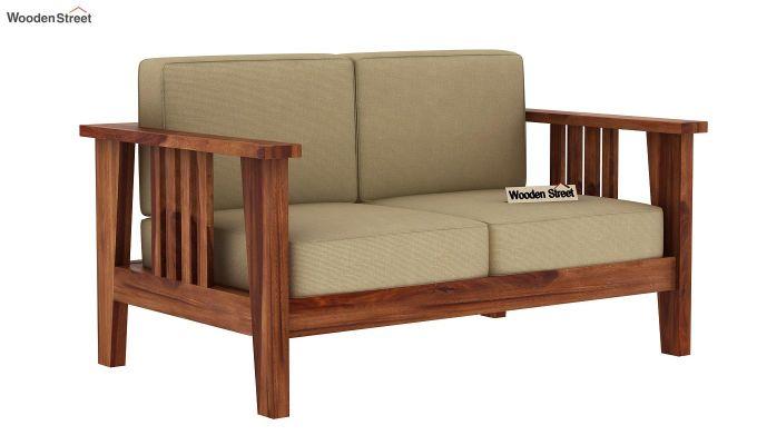 Mcleod 2 Seater Wooden Sofa (Teak Finish)-2