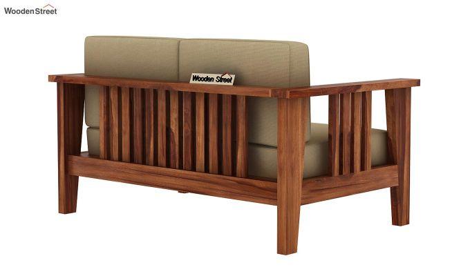Mcleod 2 Seater Wooden Sofa (Teak Finish)-4