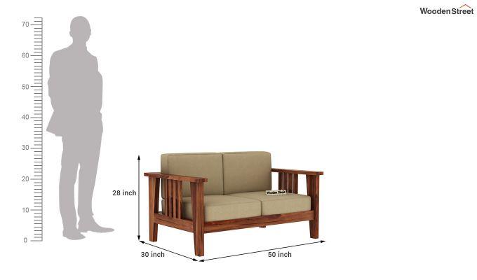 Mcleod 2 Seater Wooden Sofa (Teak Finish)-5