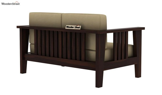 Mcleod 2 Seater Wooden Sofa (Walnut Finish)-4