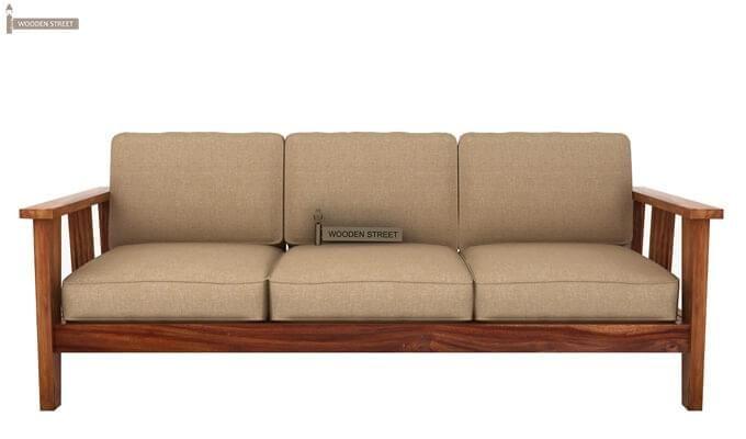 Mcleod 3 Seater Wooden Sofa (Teak Finish)-1