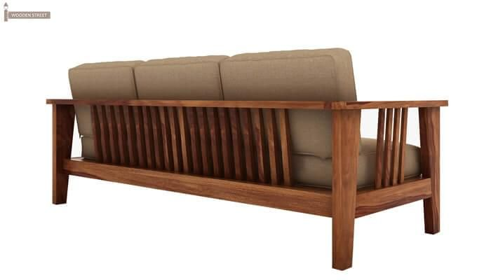 Mcleod 3 Seater Wooden Sofa (Teak Finish)-3