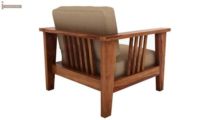 Mcleod 1 Seater Wooden Sofa (Teak Finish)-3