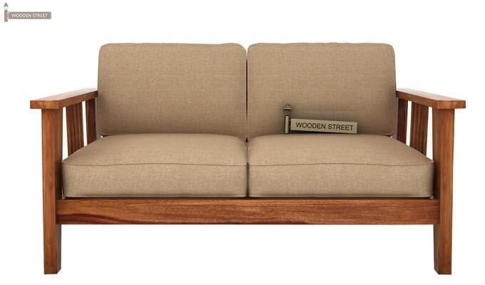 Mcleod 2 Seater Wooden Sofa (Teak Finish)-1