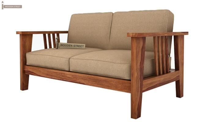 Mcleod 2 Seater Wooden Sofa (Teak Finish)-3