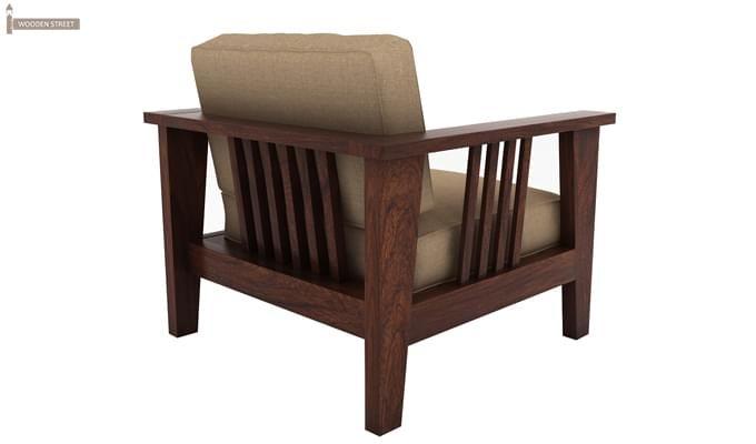 Mcleod 1 Seater Wooden Sofa (Walnut Finish)-3
