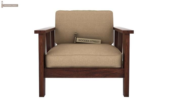 Mcleod 1 Seater Wooden Sofa (Walnut Finish)-1