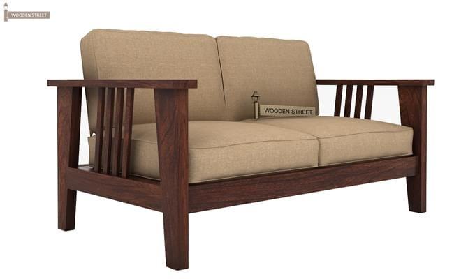 Mcleod 2 Seater Wooden Sofa (Walnut Finish)-1