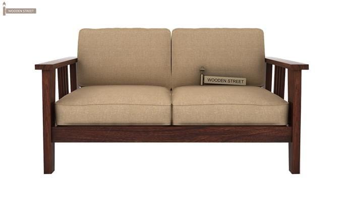 Mcleod 2 Seater Wooden Sofa (Walnut Finish)-2