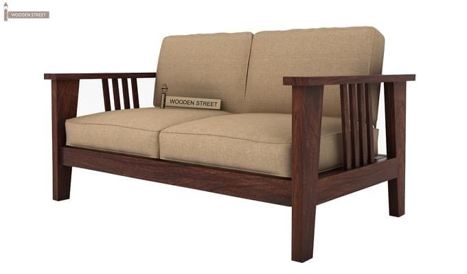 Mcleod 2 Seater Wooden Sofa (Walnut Finish)-3