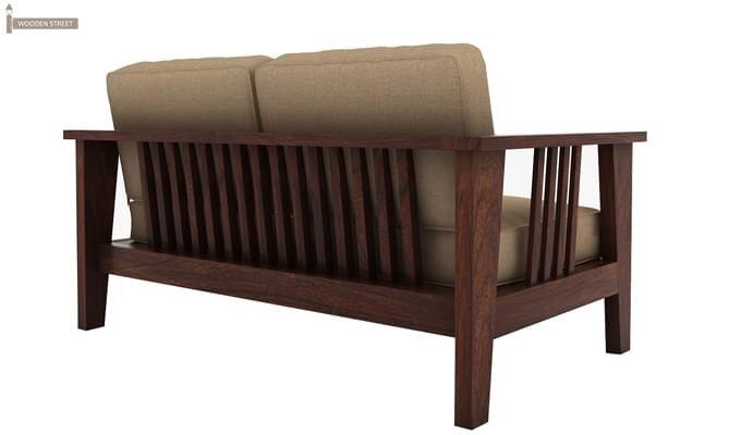 Mcleod 2 Seater Wooden Sofa (Walnut Finish)-4