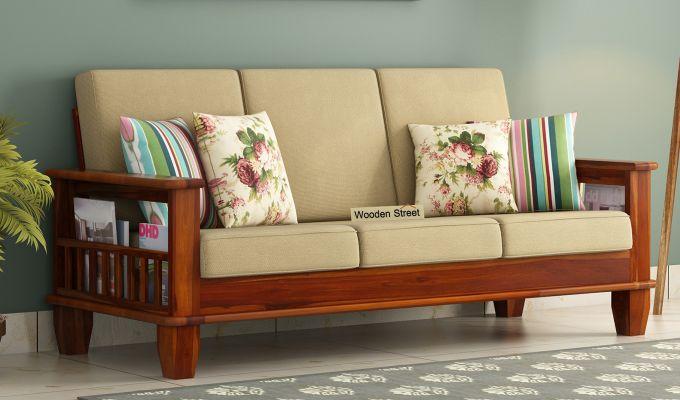 Buy Quartz 3 Seater Wooden Sofa Online In India Wooden Street