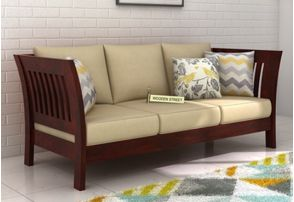 Simple 3 Seater Wooden Sofa Designs