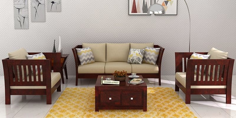 Superieur Wooden Sofa Set (3+1+1)