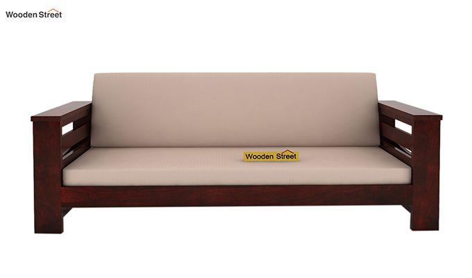Sereta 3 Seater Wooden Sofa (Mahogany Finish)-2