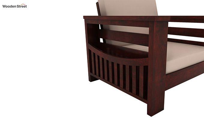 Sereta 1 Seater Wooden Sofa (Mahogany Finish)-3
