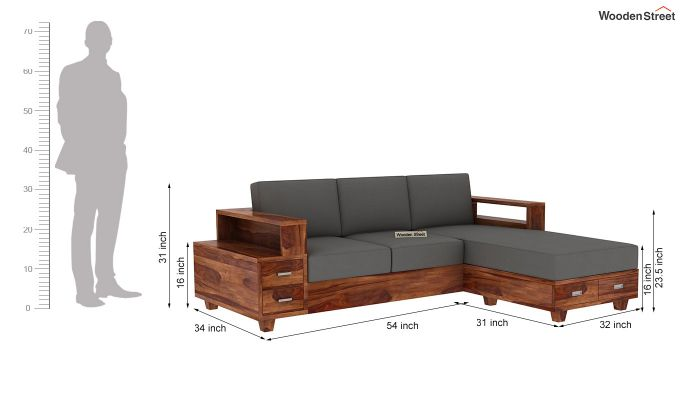 Solace L-Shaped Wooden Sofa-5