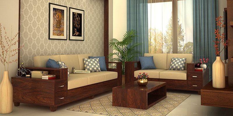 Wooden Sofa Set: Buy Wooden Sofa Set Online in India Upto ...