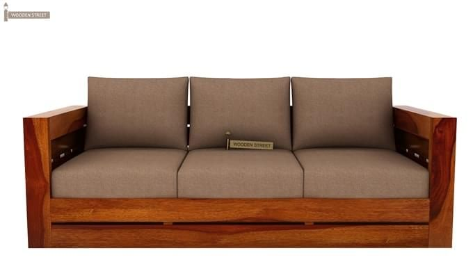 Stegen Wooden Sofa 3+1+1 Sets (Honey Finish)-8