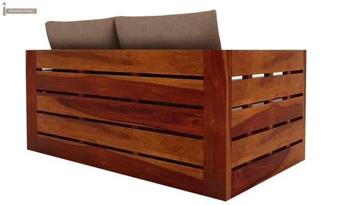 Stegen 2 Seater Wooden Sofa (Honey Finish)-4