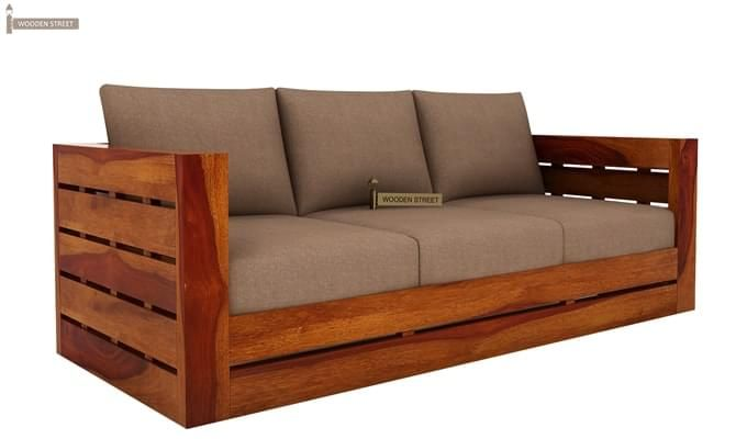Stegen Wooden Sofa 3+1+1 Sets (Honey Finish)-7