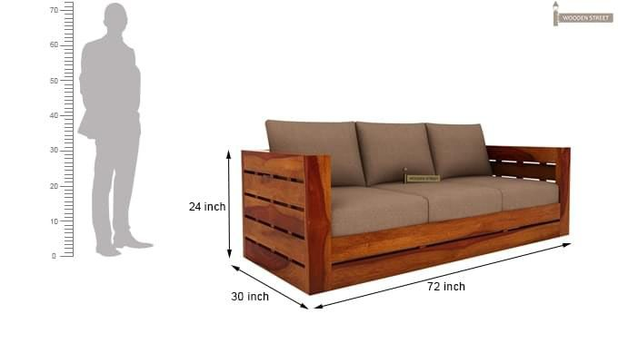 Stegen Wooden Sofa 3+1+1 Sets (Honey Finish)-12