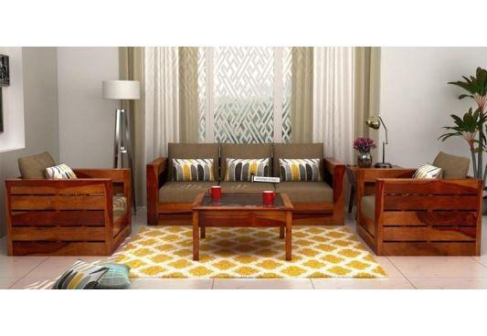 Stegen Wooden Sofa 3+1+1 Sets (Honey Finish)
