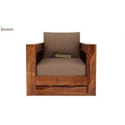 Stegen 1 Seater Wooden Sofa (Teak Finish)
