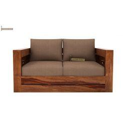 Stegen 2 Seater Wooden Sofa (Teak Finish)
